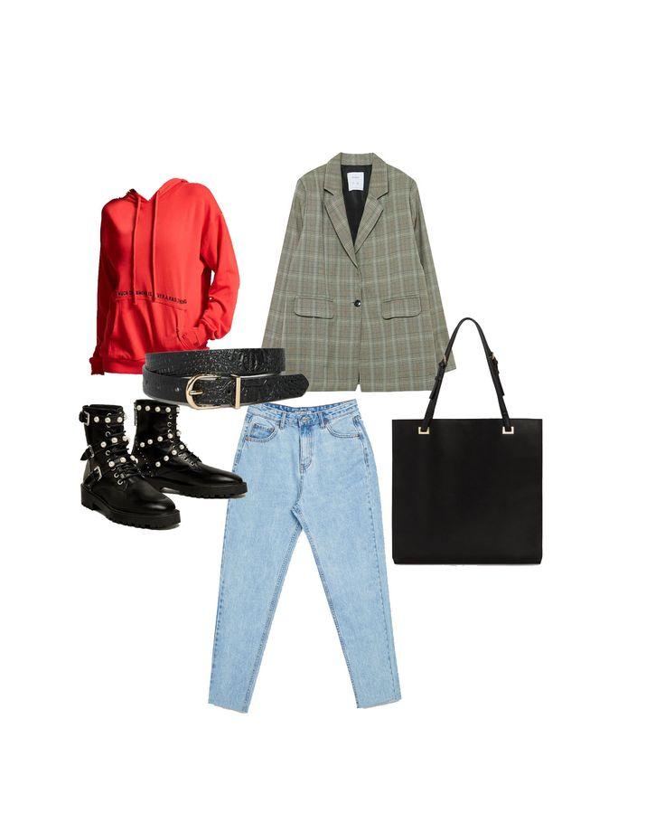 Outfit combinando sudadera y blazer. #outfit #casualoutfit