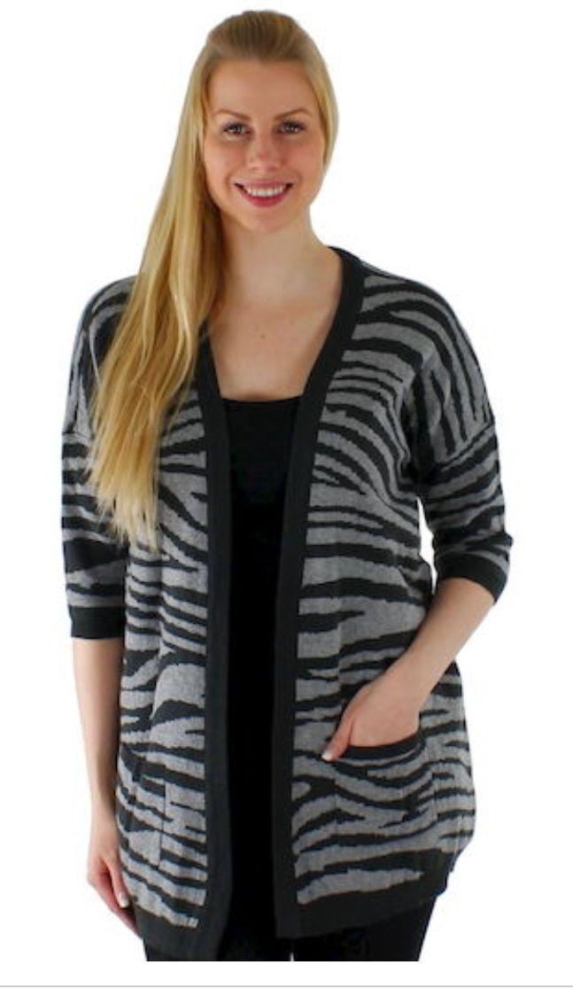 Zebra Cardi