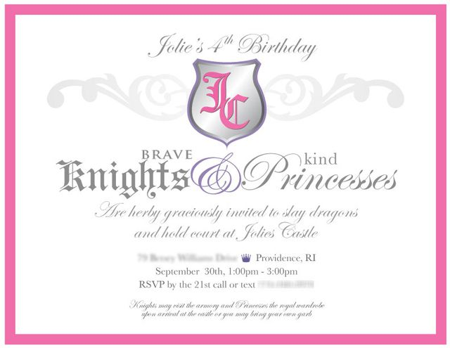 174 best images about PRINCESS AND KNIGHT BIRTHDAY Party ideas – Princess and Knight Party Invitations