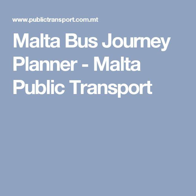 Malta Bus Journey Planner - Malta Public Transport