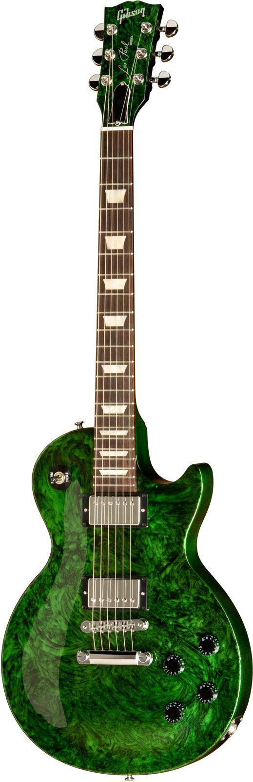 Gibson Anniversary Flood Les Paul Studio Green Swirl - <3'd by Stringjoy Custom Guitar & Bass Strings