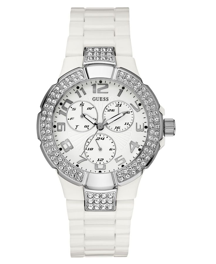 guess s white polycarbonate 41mm