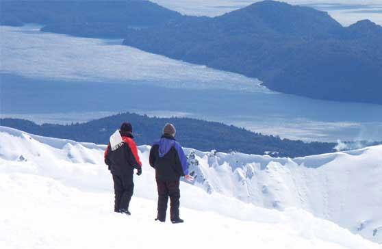 Nieve de Bariloche.