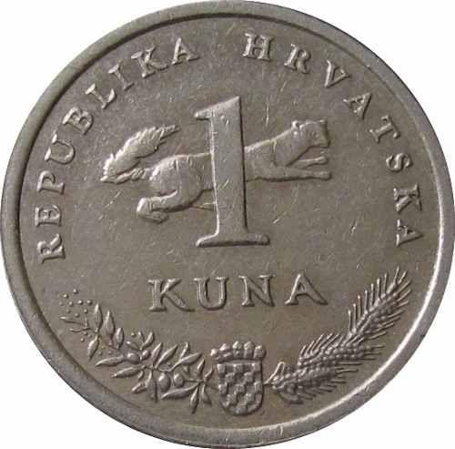 moeda croacia 1999,  1 kuna,  aniversário da moeda nacional