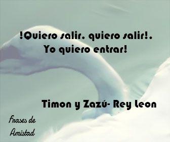 Frases de amistad disney de Timon y Zazú- Rey Leon