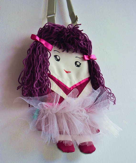 FREE SHIPPING Bag ballerina doll for girls. by NinuMiluBagDolls