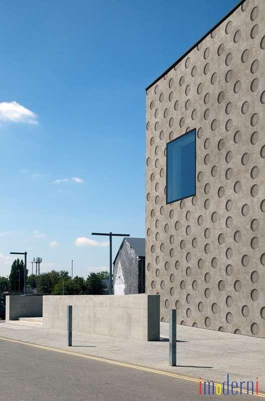 Geometric Patterned Wallpaper Concrete Look Outdoor Modern NEGATIVE By BPM Studio WallDeco