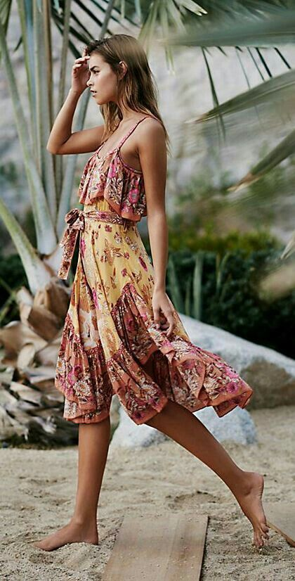 Boho Style Barefoot Keeps You Grounded Pinterest Kleider Und
