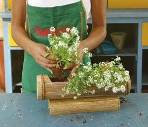 Idéias para campos e jardins: fontes de bambu