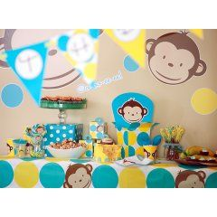 Mod Monkey 1st Birthday Party Packs