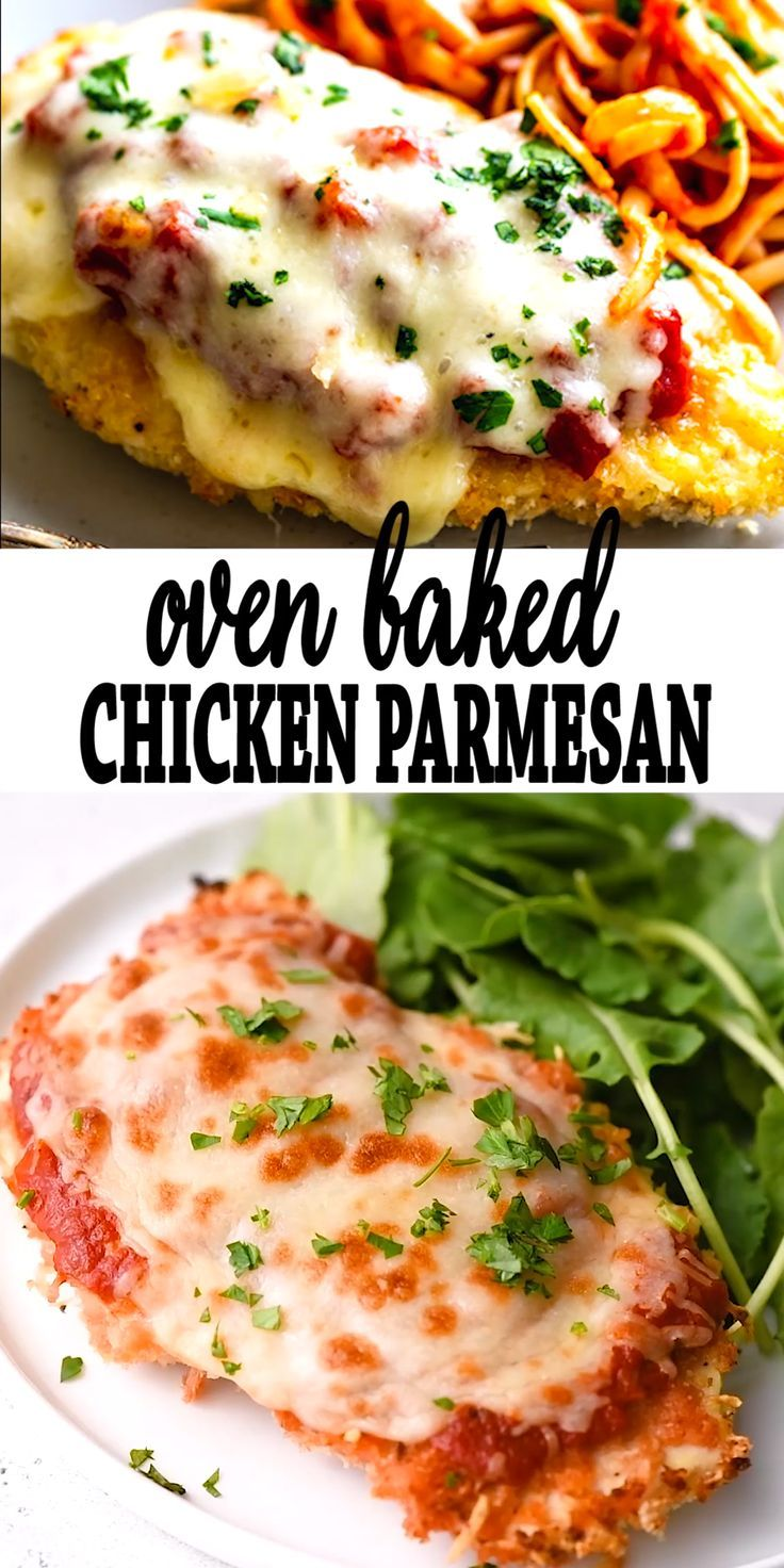 Oven Baked Chicken Parmesan Recipe Chicken Parmesan Recipes Recipes Quick Dinner Recipes