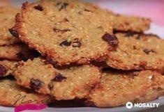 Zabpelyhes-almás keksz liszt, cukor nélkül