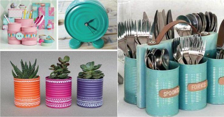¿Ya no sabes qué hacer con tanta lata reciclada? Pues aquí tiene toda una lista de ideas.