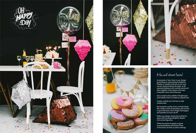 Featured in Hitched Magazine » DIY Pop-Up Parties, chalkboards and styling by Ashdown & Bee, cake bunting by Penny Lane Studio, photography by Willow & Co.