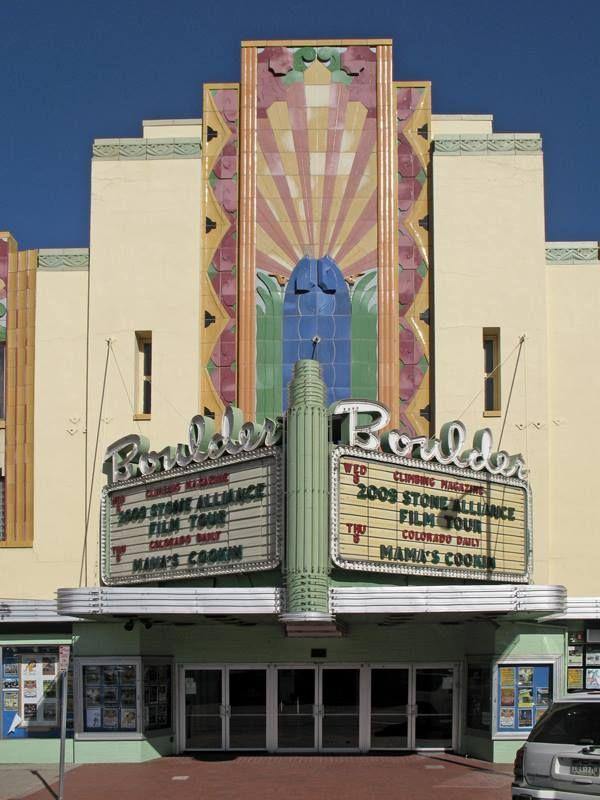 Boulder Theater, 14th Street, Denver Colorado Art Deco