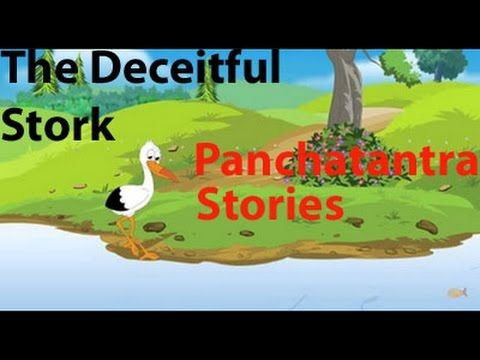 The Deceitful Stork - Panchatantra Stories in English - Moral Story for ...