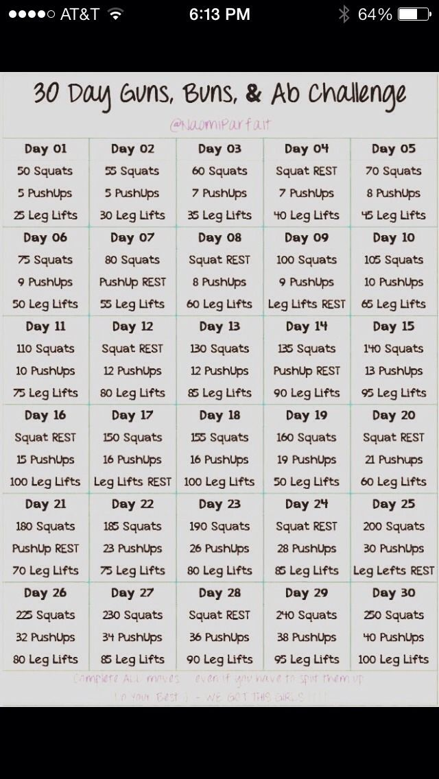 30 Day Abs, Butt & Guns Challenge!!!