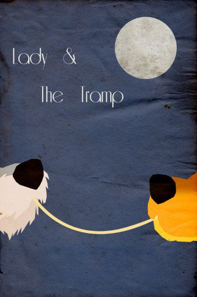 Lady & the Tramp Minimalist Poster