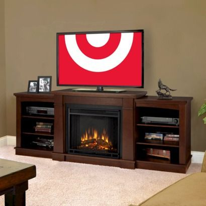Hawthorne Tv Stand With Electric Fireplace Espresso