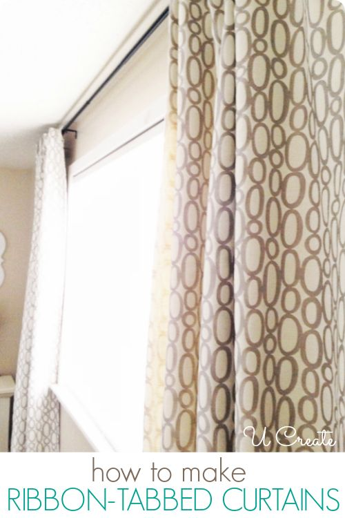 Delightful How To Easily Make Ribbon Tabbed Curtains From @U CREATE