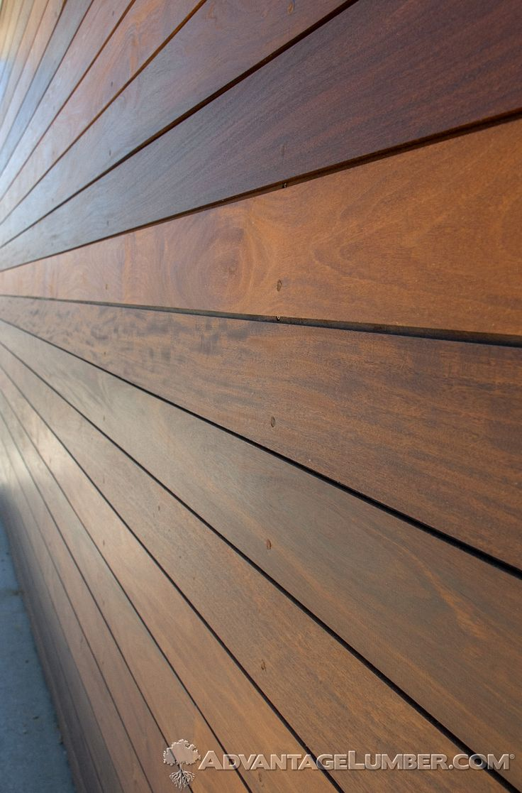 This encino ca home used advantage ipe shiplap siding to for Horizontal wood siding panels