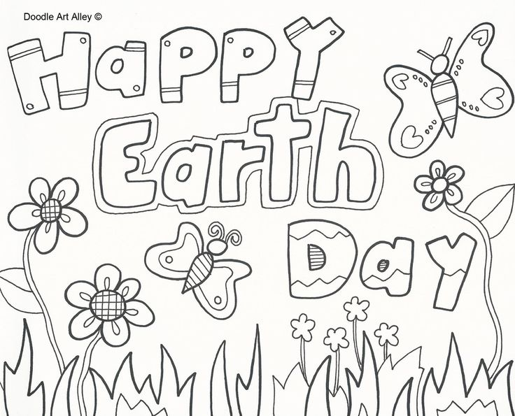 15 best Earth Day images on Pinterest  Earth day coloring pages