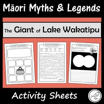These are fun and engaging activity sheets for the story 'The Giant of Lake Wakatipu'. Plenty of activities to pick-and-choose from. Simply print and you're ready to go! A great addition to a unit study on Māori Myths and Legends.