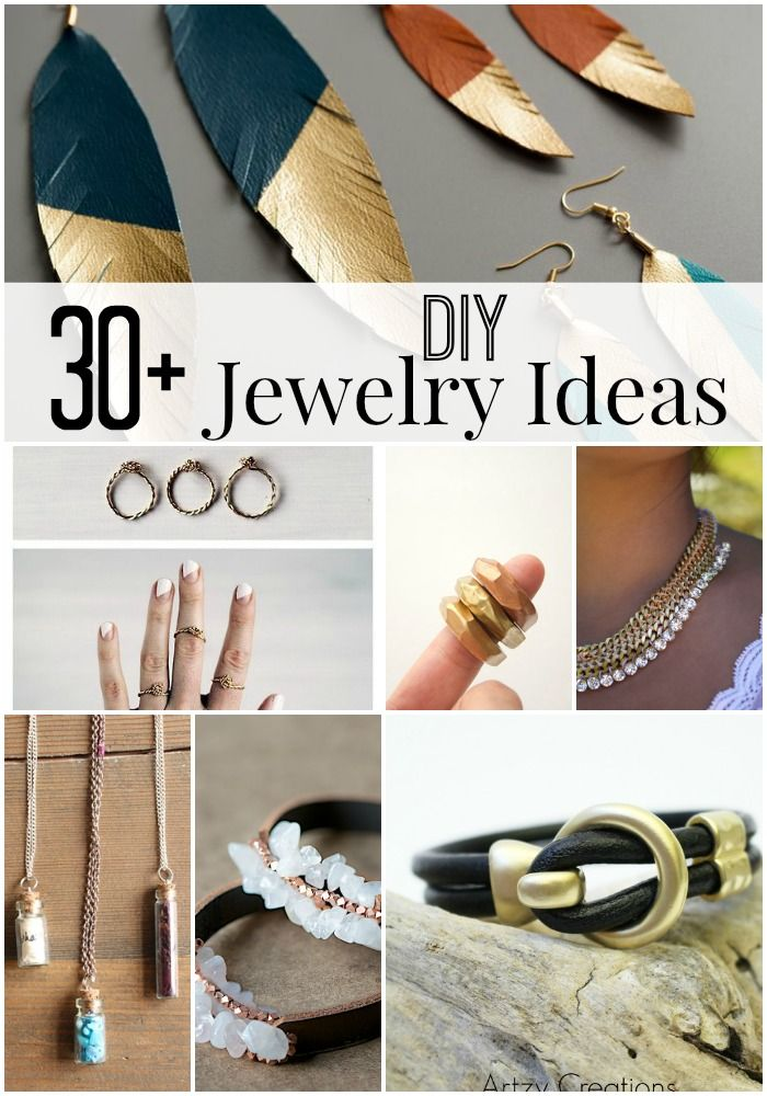 Awesome 30+ DIY Jewelry Ideas. These are easy to make and they would make great fasion statement pieces.