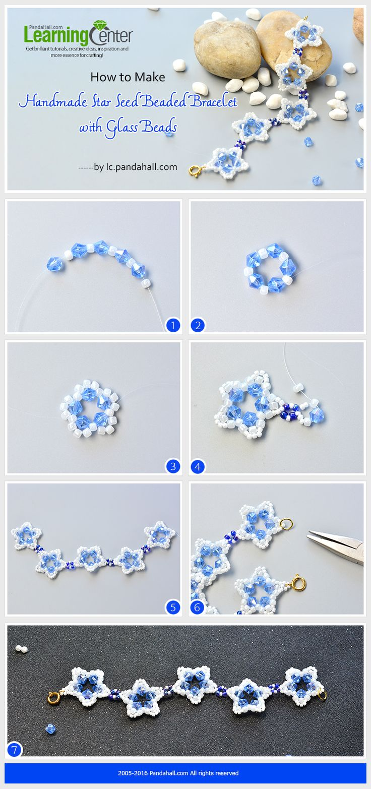 How to Make Handmade Star Seed Beaded Bracelet with Glass Beads from LC.Pandahall.com
