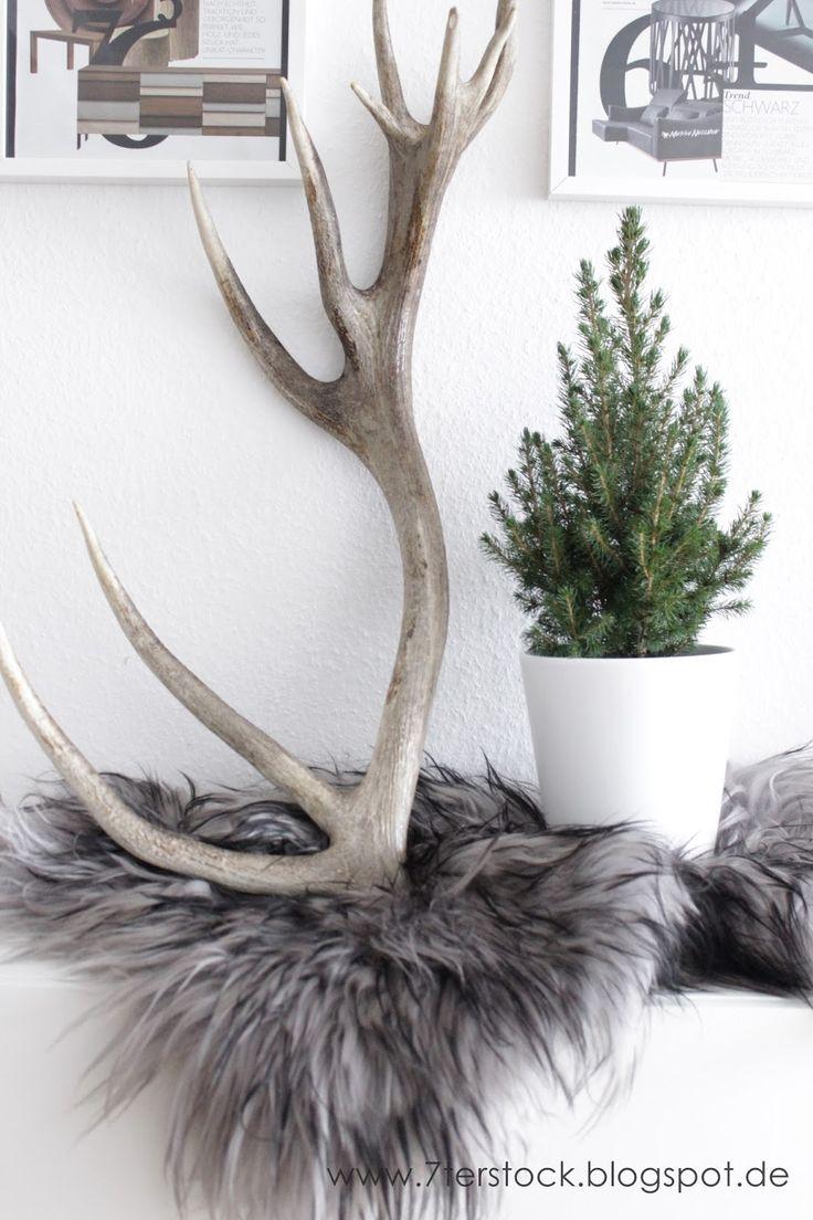 die besten 25 hirsch deko ideen auf pinterest weihnachtsdekoration rentier outdoor. Black Bedroom Furniture Sets. Home Design Ideas