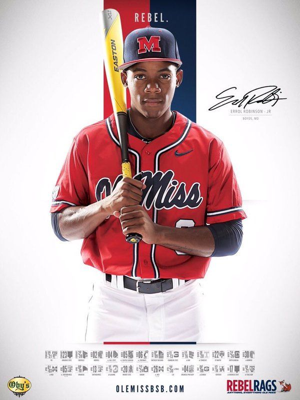 2016 Ole Miss Baseball Schedule Poster