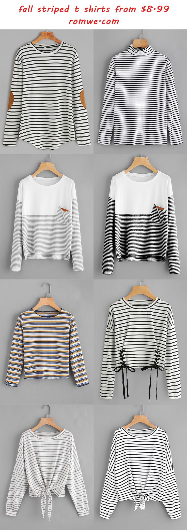 striped t shirts - romwe.com