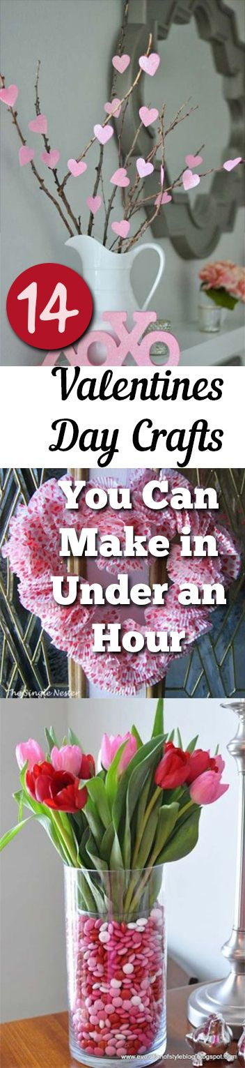 14 valentines day crafts you can make in under an hour - Valentines Day Decor