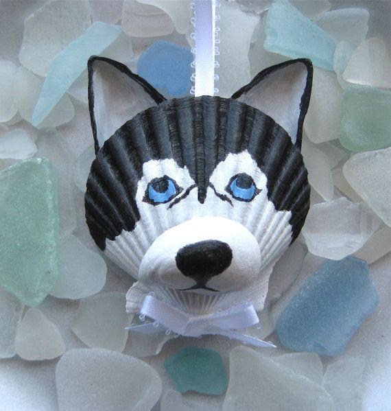 Husky Ornament by Lorishellart on Etsy, $8.00