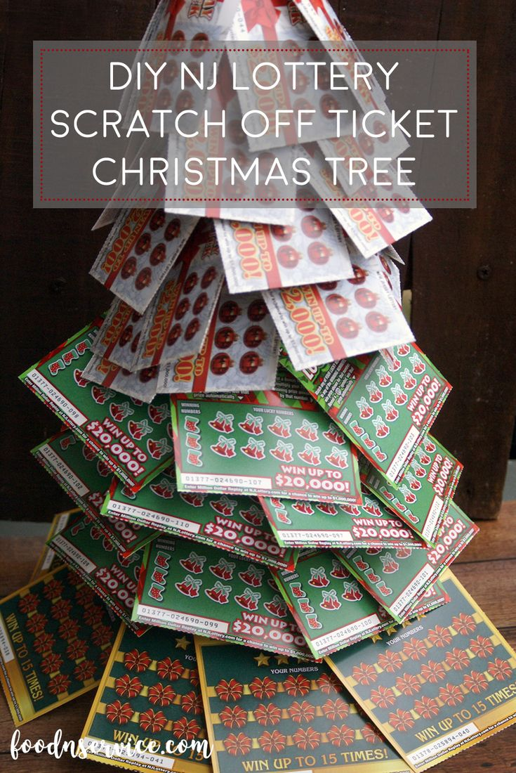 DIY Lottery Christmas Tree. A perfect gift! Give the gift of winning this Christmas from the NJ Lottery!!