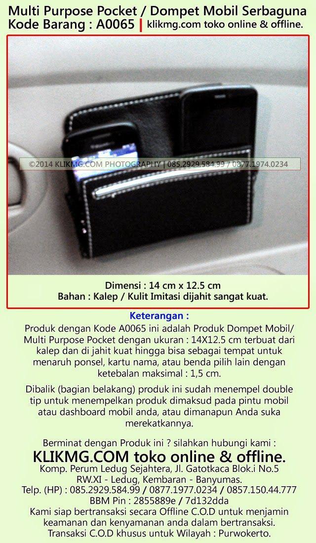 Multi Purpose Pocket / Dompet Mobil Serbaguna - Kode Barang : A0065   klikmg.com toko online jujur & terpercaya