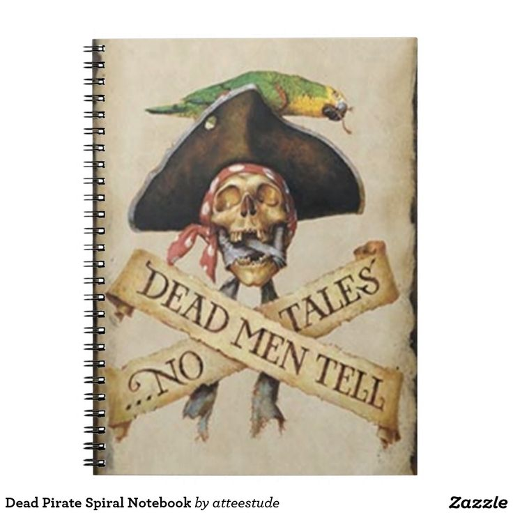 Shop Dead Pirate Spiral Notebook Created By Atteestude.