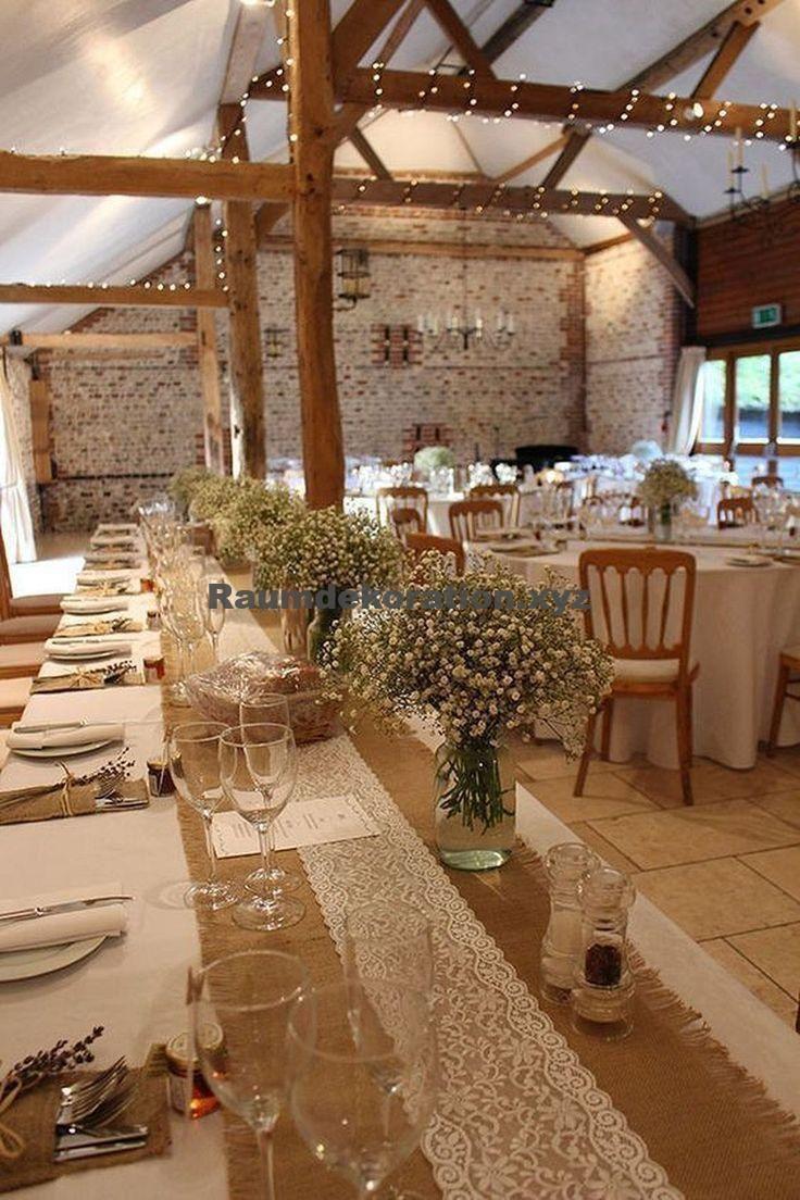Tischdeko Hochzeit – Tischdeko Hochzeit – Jute-Tischdekorationen zu Händen rustikale Hochzeit…