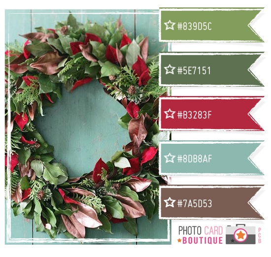 This Variation On Christmas Green And Red The Pinky Tim Holtz Festive Berries Blue Evergreen Bough Give Such A Different Look Feel