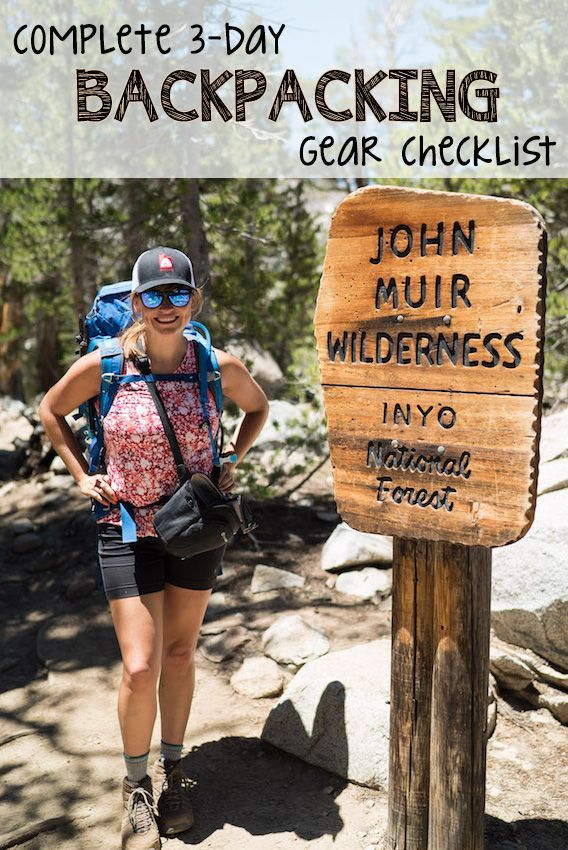 Get my complete backpacking checklist which includes all the essential hiking gear I bring on weekend camping trips with recommendations for going lighter.