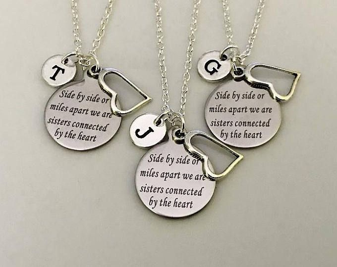 20abe03e21ed9 3 Sisters necklaces, set of 3 necklaces, Gift for Sisters, Sister ...
