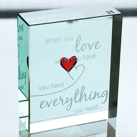 When you love someone, let it show. Give them this fabulous gift and they're sure to know. #Love #Everything #Beautiful #Gift #Glass #Anniversary #Spaceform #London