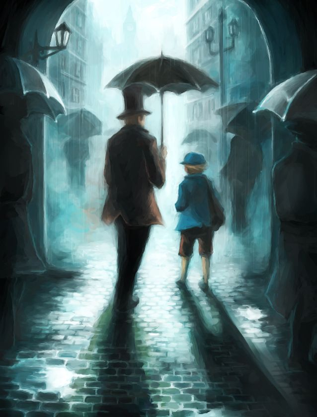 Professor Layton and his apprentice Luke.