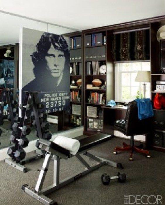 Sandra Lee And Andrew Cuomos Gym Via Elle Decor