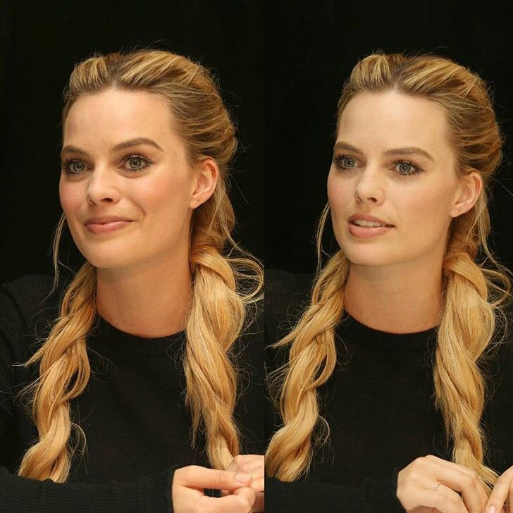 Margot Robbie grown up pigtails