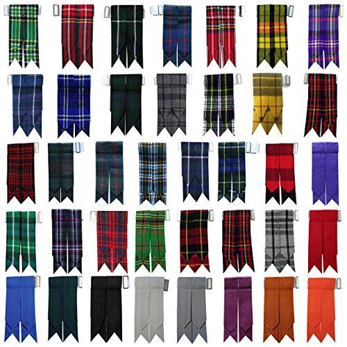 New Solid Plain Black, Royal Stewart Tartan Many More Kilt Flashes Multi Colors  New Solid Plain Black, Royal Stewart Tartan Many More Kilt Flashes Multi Colors  Multi Colors Socks Flash 3cm wide white Elastic with Buckle Adjusters & all sizes Fit.  Available Colors: Black Stewart, Black Watch, Douglas, Hamilton-Grey,Irish National, M D Tartan, Mackenzie, Royal Stewart, Pride of Scotland, Solid Plain Black Flash, Saffron Tartan, Dress Gordon, Brown Watch, Burgundy, Cameron of Erracht, ...