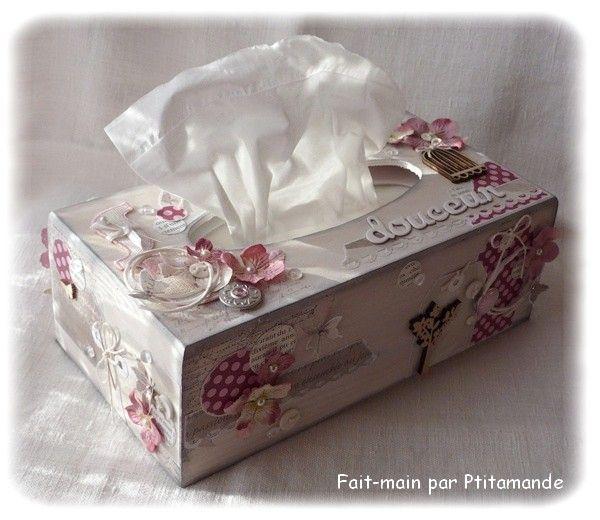bo te mouchoirs dt saracolas boutique ah ab boyama pinterest decoupage tissue boxes. Black Bedroom Furniture Sets. Home Design Ideas