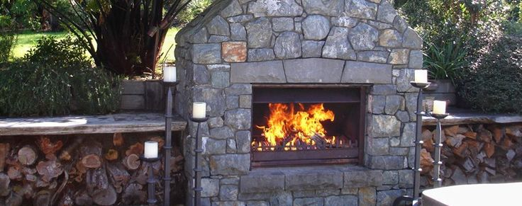 Jetmaster 850L Outdoor Alfresco Wood Fire Package Masonry Install