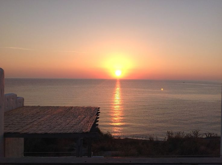 Breathtaking sunrise views from our boutique Apartments Antigoni overlooking the long sandy beach on Skyros island, Greece http://www.askelena.com/greece/skyros/aa