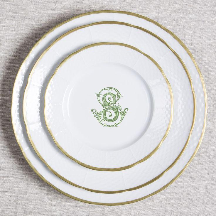 Custom monogrammed dinnerware 24 karat gold rimmed design tabletop making dinnerware meaningful. Sasha Nicholas Monogrammed  sc 1 st  Pinterest & 263 best Merry Christmas Fine China u0026 Dinnerware images on Pinterest ...